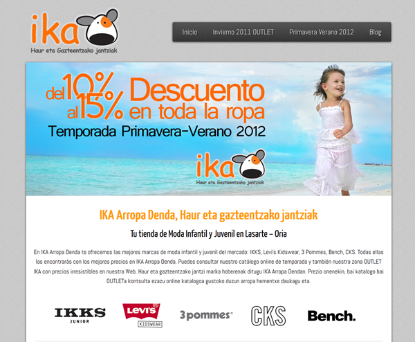 Ika Arropa Denda, On Estrategia Marketing Online
